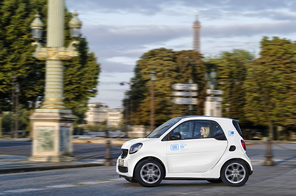 Car2Go launches 400 strong electric car fleet in Paris