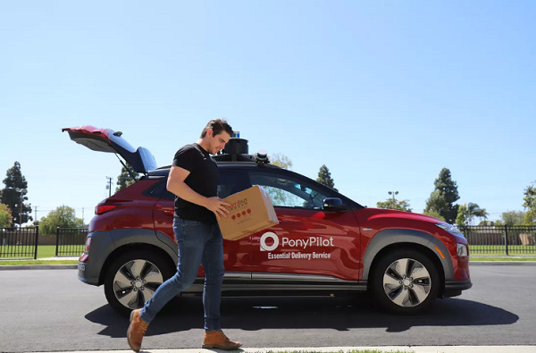 Contactless delivery using self-driving cars coming to Irvine, CA amid coronavirus