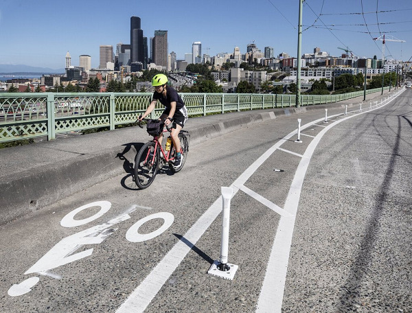 As people took up cycling during pandemic, Seattle went on a bike-lane-building binge